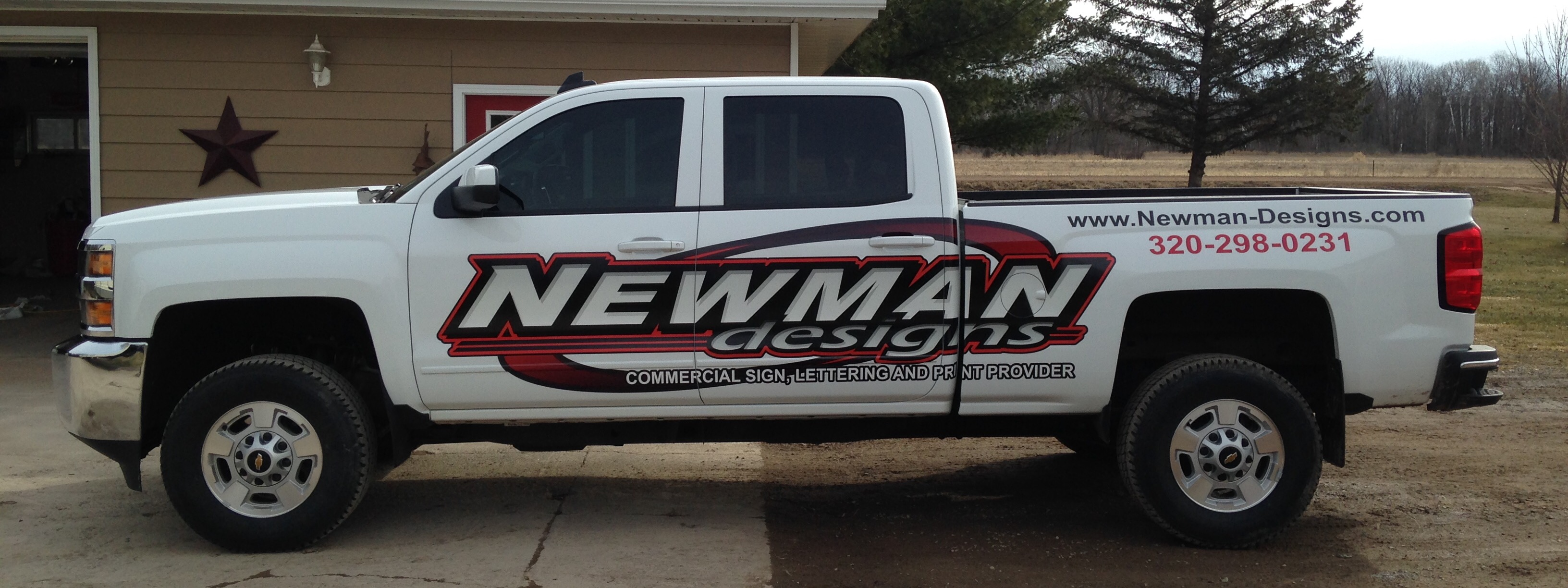 Newman designs pine city mn 55063 for Big truck lettering